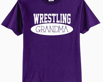 Wrestling Grandma  Adult T-Shirt