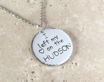 USMA Necklace,I Left My Heart on the Hudson,West Point Neckalce,Proud West Point Mom,WP Mom,Personalized Necklace,personalized gifts