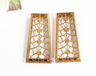Vintage Trellis Design Cut Metal Finding(2)