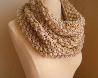 Merino wool long cowl - Ivory