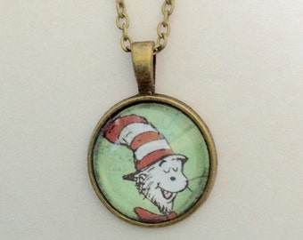 Dr Zeus Cat in the Hat necklace