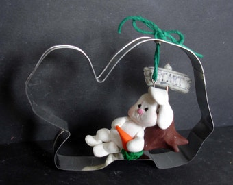 Tortoise Hare Christmas Ornament Race Polymer Clay Milestone Cookie Cutter Cake Topper Shower Bunny Rabbit Turtle Carrot Fable Story Sign