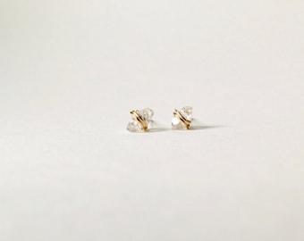 Wrapped Herkimer Diamond Earrings // Crystal Earrings // Raw Crystal Earrings