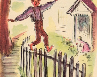 The Adventures of Tom Sawyer by Mark Twain, illustrated by Louis Slobodkin