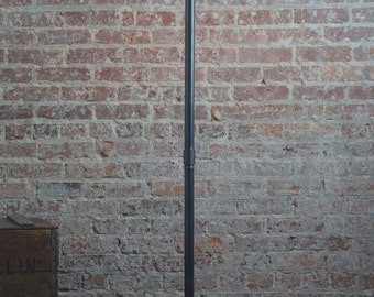 Copper Floor Lamp - Industrial Floor Lamp - Antique Brass - Pipe Floor Lamp - Standing Lamp