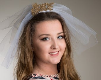 Bride wedding Veil Tiara Headband