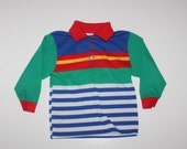 HIPSTER LITTLE BOY - Striped Shirt - Primary Colors - Healthtex - Size 4