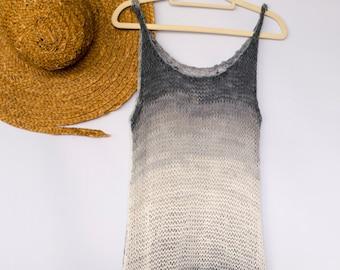 Bikini Cover Up Beach Dress, Ombre Knit Dress, Festival Style
