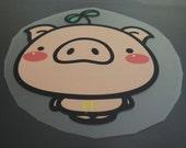 Pig Iron On Transfer - Iron on Vinyl Sheets Heat Transfer Sheet Cute Animal Pigs Pattern Iron-On