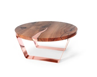 Coffee Table LAXA round. Modern coffee table. Art Deco. Unique table. Handmade