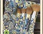 Brush Roll - Make-up Brush Storage  - Make-up Brush Rolls - Cosmetic Storage - Travel bags for makeup - Cosmetic Storage