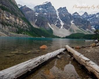 Moraine Lake - Banff National Park, Alberta Canada - Digital Painting