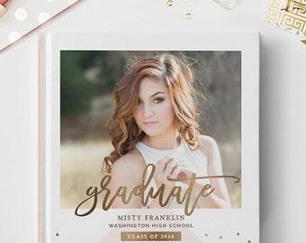 Senior Photo Book Cover Template, Senior Album Template, Senior Template, Senior Book Templates, Senior Album Templates BC129