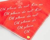 Vintage Red Handkerchief Very Special Valentine