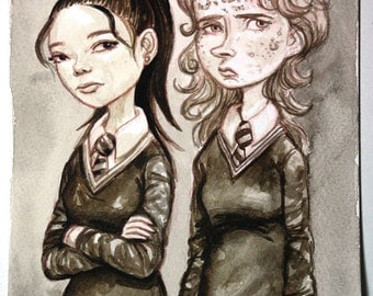 Inktober 2015 Cho and Marietta Original Ink Painting