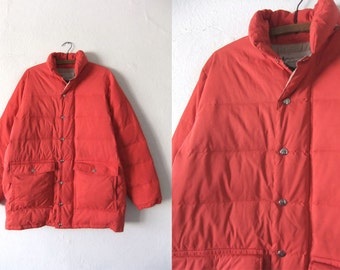 REI vintage Goose Down Puffer Jacket - 70s Camping Outdoors Style Skiing Jacket Puffy Coat - Vintage Mens XL