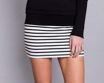 """Tulsi"", striped skirt"