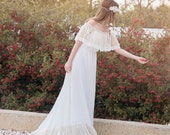 Wedding Dress Bohemian Wedding Dress Boho Bridal Gown Long Bohemian Dress Lace Wedding Dress Boho Long Dress - Handmade by SuzannaM