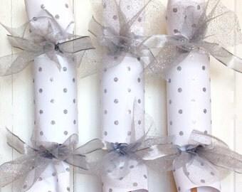 Silver Dot  Wedding Party Cracker
