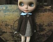 Blythe Doll Knitted Alpaca Cardigan - Dark Chocolate Brown