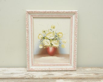 Vintage Painting Yellow Roses