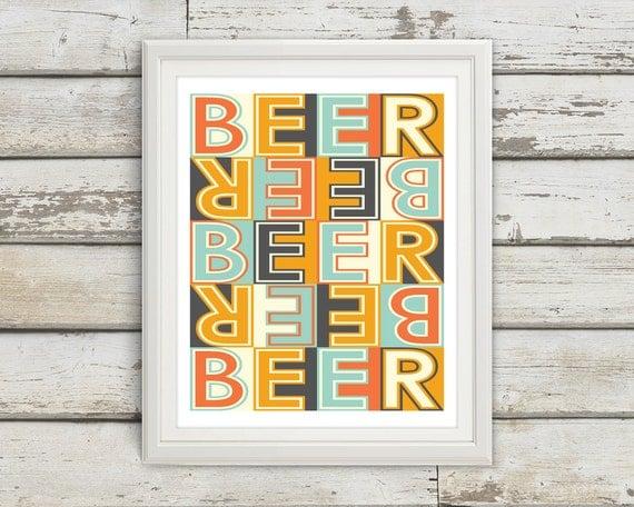 Beer Beer Sign Home Decor Beer Signs Beer Art Beer Wall
