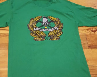 Vintage Dublin Ireland Fire Brigade Tshirt