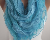 NEW-Blue Triangular Scarf  Shawl Fashion Women Accessories Valentines Day Gift For Her For Mom