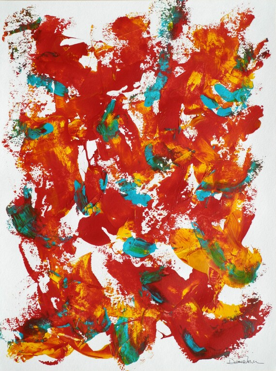 Abstract painting acrylic on watercolor paper by durangomiller for Acrylic painting on paper tips