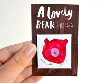 Bear pin badge
