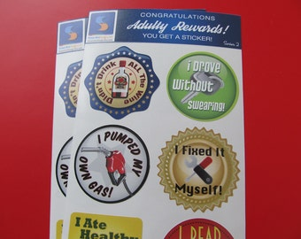 8 Adult Reward Stickers Series 2 You Adulted Today Congratulations adult humor snarky sarcastic decals women woman sticker decal funny