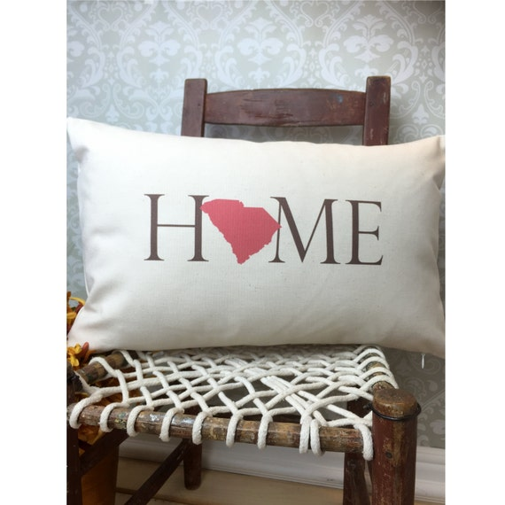 South Carolina Pillow, Long Pillow, Home Pillow, State