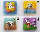 Mini brooch - felt brooches - stocking fillers - butterfly - turtle - elephant - fairy - buy 2 and save - hand sewn
