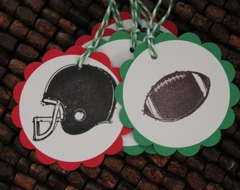 Football Birthday Party Favor Tags Set -12