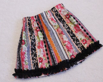 SALE!!! ~ Ready to Ship!  Custom Boutique Girls Twirl Skirt, Toddler Girls, Birthday, School, Holiday,  Floral~ Size 5/6