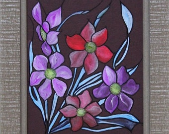 Original painting, wall art, flower, fine art, design, modern art, gallery, home decor, contemporary art