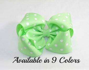 Mint Green Hair Bow, Large Hair Bow, Hair Bows, 5 inch Bows, Girls Hair Bows, Hair Bows for Girls, Baby Bows, Toddler Hair Bows, Bows, 500