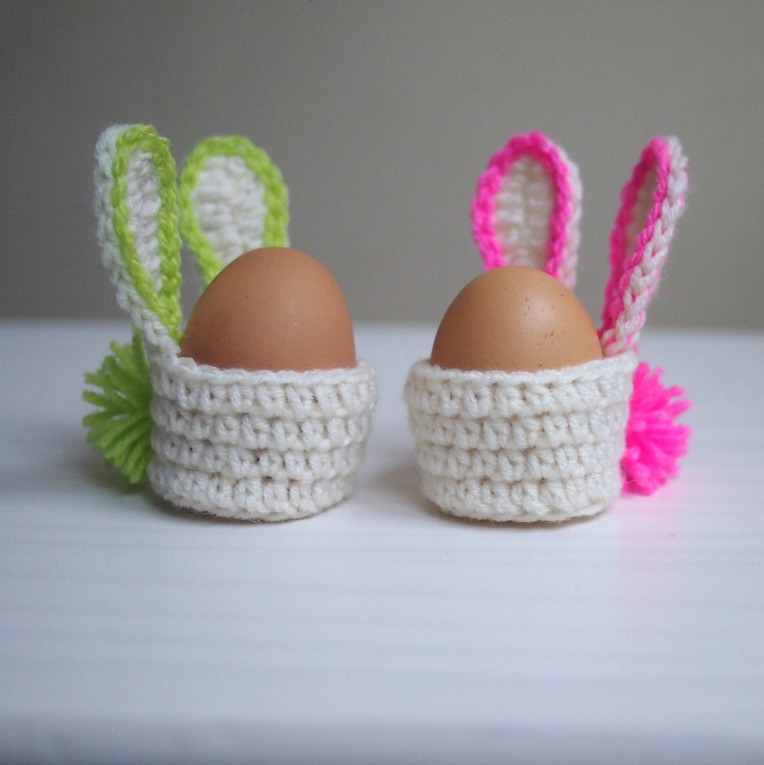 Diy easter decor gift ideas etsy crochet pattern easter bunny egg cozy basket kids home decor decoration negle Choice Image