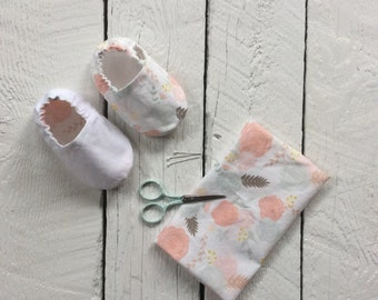 Reversible cotton baby shoes