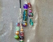 RESERVED for LISA       Lariat with Multi-Colored Czech Beads