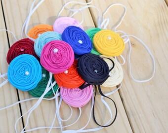 Grab Bag 20 Rosette Headband- Wholesale- Girl Headband- Baby Headband- Single Rosette Headband- Baby Rosette Headband- Spring Headband