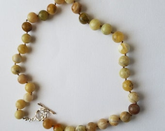 Yellow Opal necklace