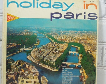 Holiday in Paris. Vintage Record Album. Circa 1960's to 1970's.  33 1/3 Long Playing Record.La Mer. Histooire D'Amour. Gamin De Paris.