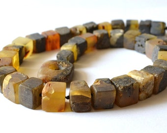 Natural Baltic Amber Necklace / Natural Amber Jewelry / Statement Necklace / Unique Amber Jewelry