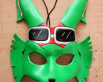 Bucky O'Hare leather mask - Made to Order
