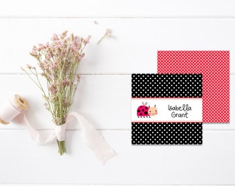Mommy Calling Cards |  Kids Calling Cards | Kids Gift Tags | Playdate Cards | Ladybug Gift Cards |  Personalized Gift Tags