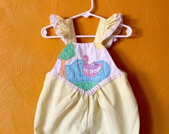 Vintage toddler bubble suit/ romper/ sun suit / toddler vintage / size 18/24M