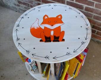 Children's bookshelf, Kids bookshelf, nursery bookshelf, Book Rack, Round Bookshelf, Kids Book Cart, Bookcase, handmade furniture