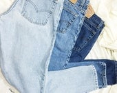 ALL SIZES Vintage High Waisted Relaxed Fit Tapered Leg Levis