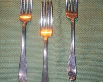 "Oneida ""Chippendale aka Adair""1919 - 3 Dinner Forks - Pre-Owned -"